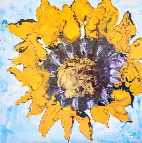 Sunflower Pour